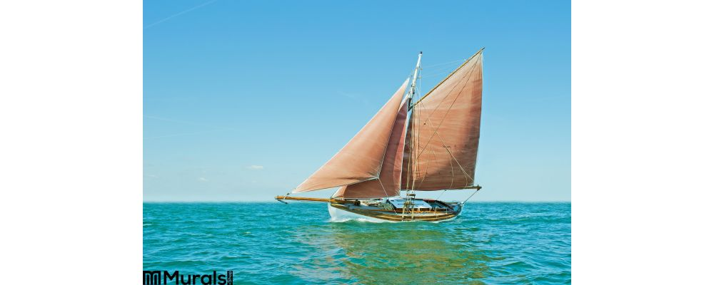 Old Sailing Boat Wall Mural