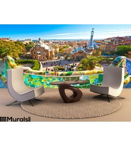 Park Guell Wall Mural Wall Tapestry tapestries