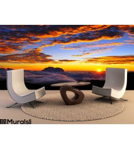 Sunset Cloudscape Wall Mural Wall Tapestry tapestries