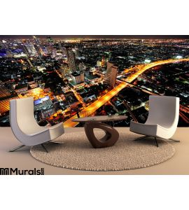 Thailand Bangkok Night City Sky View Wall Mural Wall Tapestry tapestries