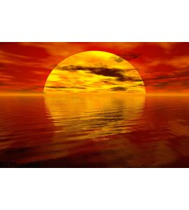 Sea Sunset Wall Mural Wall Tapestry tapestries