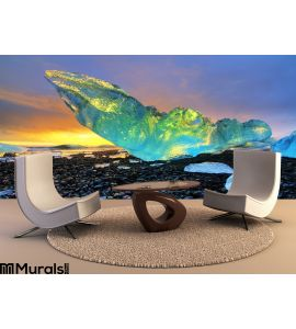 Vibrant Iceberg Iceland Wall Mural Wall Tapestry tapestries