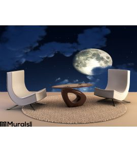 Moon Night Sky 4 Wall Mural Wall Tapestry tapestries