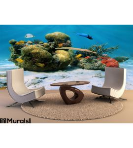 Corals in the caribbean sea Wall Mural Wall Tapestry tapestries