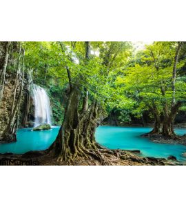 Erawan Waterfall Kanchanaburi Thailand Wall Mural Wall art Wall decor