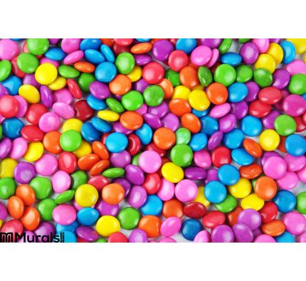 Colorful Candy Wall Mural Wall art Wall decor