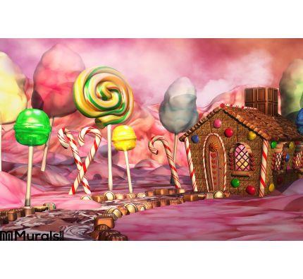 Candy Landscape Wall Mural Wall art Wall decor