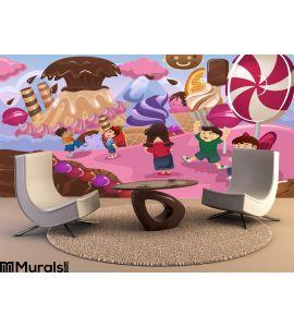 Kids Playing in a Dessert Land Wall Mural Wall art Wall decor
