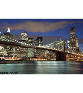 New York City Night Wall Mural
