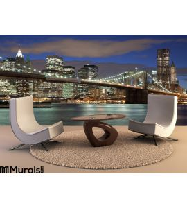 New York City Night Wall Mural Wall art Wall decor