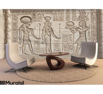 Hieroglypic Carvings Egyptian Temple Wall Mural Wall art Wall decor