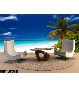 Summertime Tropical Beach Wall Mural Wall Tapestry tapestries