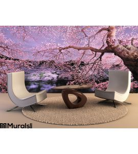 Cherryblossom light up Wall Mural Wall Tapestry tapestries