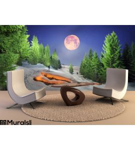 Night Walk Fire Wall Mural Wall Tapestry tapestries