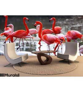 Flamingo Wall Mural Wall Tapestry tapestries