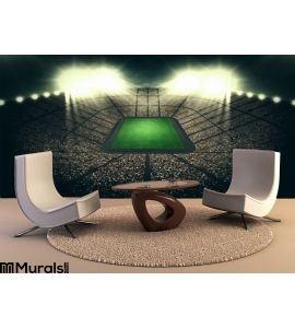 Stadium Night Wall Mural Wall Tapestry tapestries