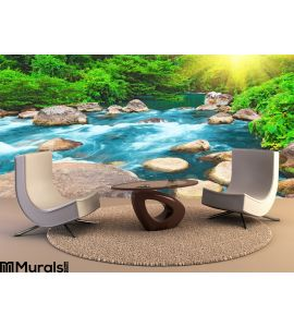 Stream Wall Mural Wall Tapestry tapestries