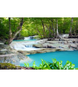 Waterfall Tropical Forest Wall Mural