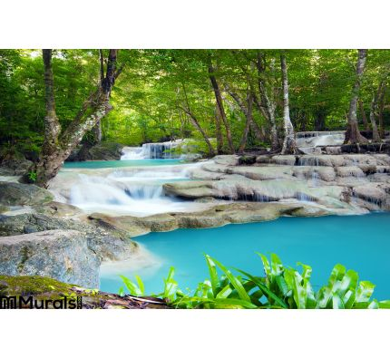 Waterfall Tropical Forest Wall Mural Wall Tapestry tapestries
