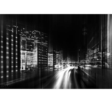 Abstract Black White Photo City Wall Mural Wall Tapestry tapestries