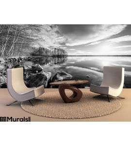 Black White Landscape Wall Mural Wall Tapestry tapestries