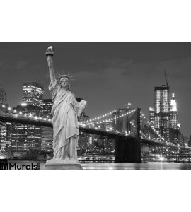 Brooklyn Bridge Statue Liberty Wall Mural Wall Tapestry tapestries