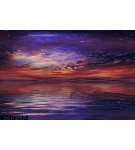 Cosmic Sunset Wall Mural Wall Tapestry tapestries