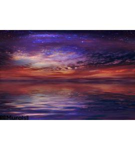 Cosmic Sunset Wall Mural