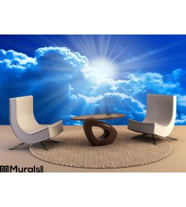 Sun Clouds Wall Mural Wall Tapestry tapestries
