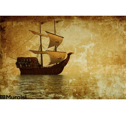 Old Ship Wall Mural Wall Tapestry tapestries