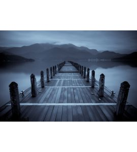 Endless Mist Lake Wall Mural Wall Tapestry tapestries