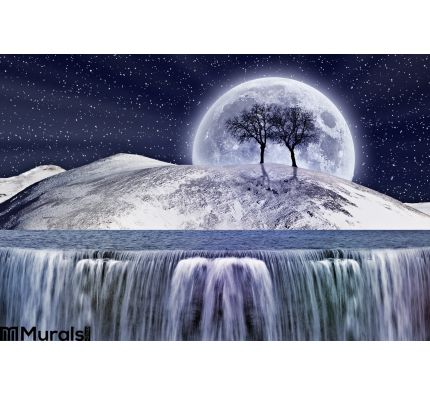 Fantastic Winter Moonlight Wall Mural Wall Tapestry tapestries