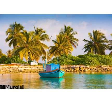 Maldives Tropical Sea Background Wall Mural Wall Tapestry tapestries
