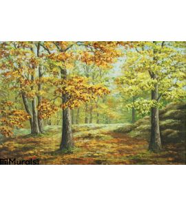 Autumn Wood Wall Mural