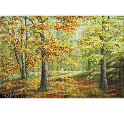 Autumn Wood Wall Mural Wall Tapestry tapestries