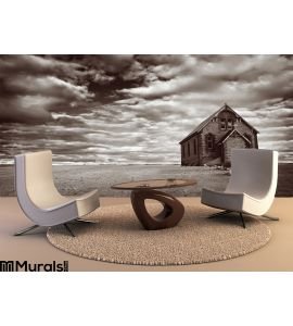 Abandoned Desert Church Wall Mural Wall Tapestry tapestries