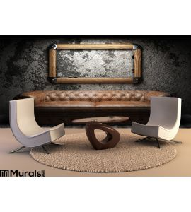 Leather Sofa Frame Dark Room Wall Mural Wall Tapestry tapestries