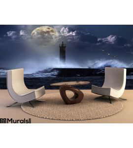 Unlit Beacon Wall Mural Wall Tapestry tapestries