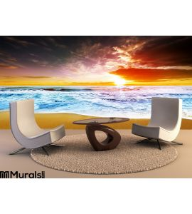 Sunset Beach Wall Mural Wall Tapestry tapestries