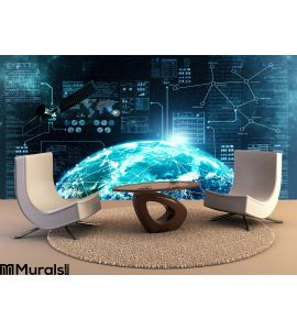 Internet Connection Outer Space Wall Mural Wall Tapestry tapestries