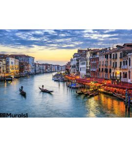 Gondolas Sunset Venice Wall Mural Wall Tapestry tapestries