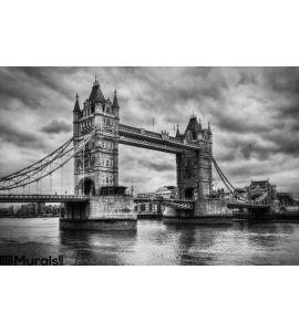 Tower Bridge London Uk Black White Wall Mural Wall Tapestry tapestries
