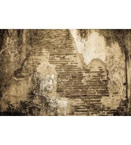 Old Cracked Concrete Vintage Brick Wall Background Wall Mural