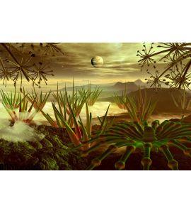 Steamy Jungle Faraway Planet Wall Mural