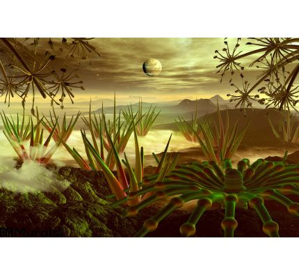 Steamy Jungle Faraway Planet Wall Mural Wall Tapestry tapestries