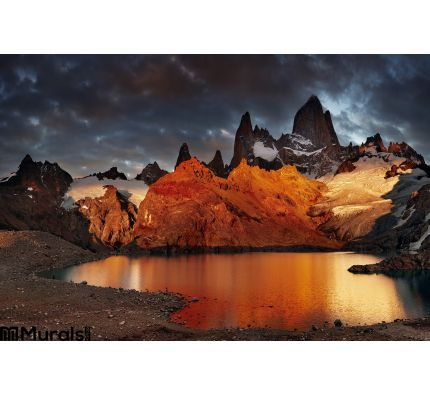 Mount Fitz Roy, Patagonia, Argentina Wall Mural Wall Tapestry tapestries