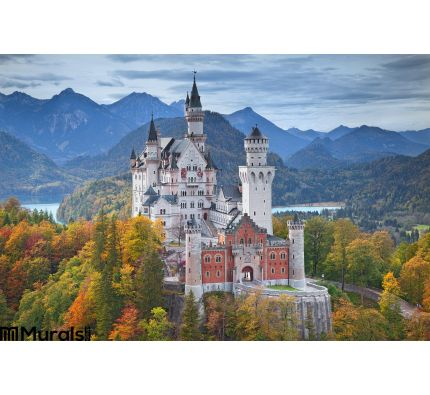 Neuschwanstein Castle Germany Wall Mural Wall Tapestry tapestries