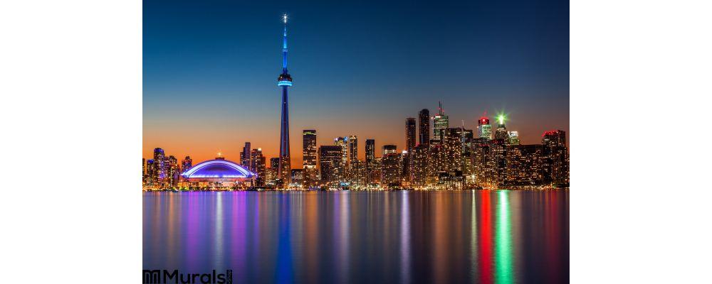 Toronto Skyline Dusk Wall Mural