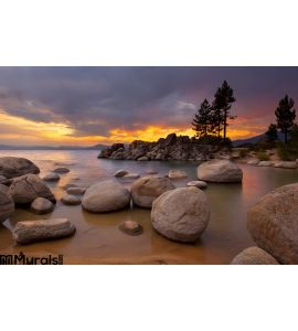 Tahoe Sunset 1 Wall Mural Wall Tapestry tapestries