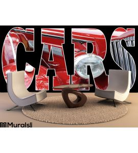 Red Classic Car Wall Mural Wall Tapestry tapestries